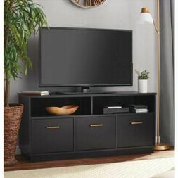 Console 50 Inch Tv Stand Modern 3 Door Storage Style Black O