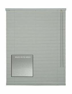 CORDLESS BRUSHED SILVER  Aluminum Horizontal 1 Inch Mini Bli