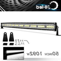 Curved 50 inch 1092W Tri Row LED Light Bar Combo for Ford Of