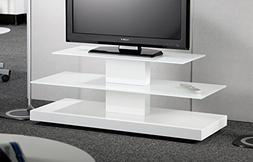 RTA Home and Office D2F-208 White Glass Plasma Tv Stand with
