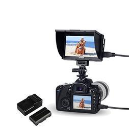 """VILTROX DC-50 5"""" inch LCD Portable Camera Field Monitor, TFT"""