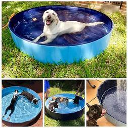 Dog pool Swimming Pet Pool Large 50 Inch Portable Foldable B