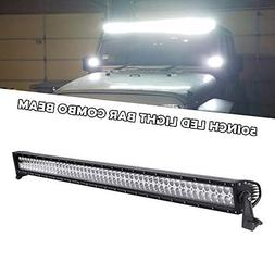 "QUAKEWORLD DOT 52"" 300w LED Light Bar Flood Spot Combo Work"