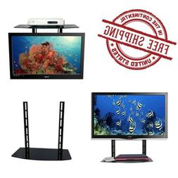 NO DRILL ON WALL! TV Back Mount DVD Speaker Box Holder Stand