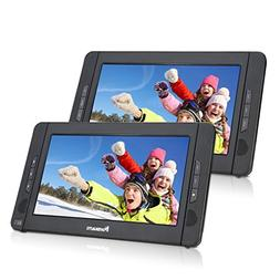 "NAVISKAUTO 10.1"" Dual Screen DVD Player Ultra-thin TFT Scree"