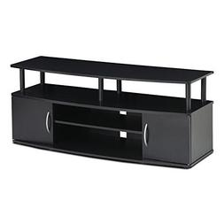 Durable Tv Stand with Storage Black Dvd Furniture 50 Inch En