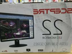 """Sceptre E225W-19203R 22"""" Ultra Thin 75Hz 1080p LED Monitor 2"""