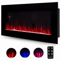 """50"""" Electric Wall Mounted Fireplace Heater Smokeless Ventles"""