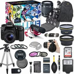 Canon EOS 80D DSLR Camera Deluxe Video Creator Kit with Cano