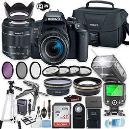 Canon EOS Rebel T7i DSLR Camera Bundle Canon EF-S 18-55mm ST