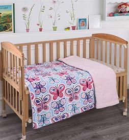 Fancy Linen Faux Fur Flannel Borrego Soft Baby Throw Blanket