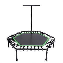 KYLIN SPORT 50 Inch Fitness Trampoline with Adjustable T Han