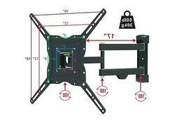 Flat Panel TV Wall Mount Bracket  Dual Arm Tilt Swivel 32 37