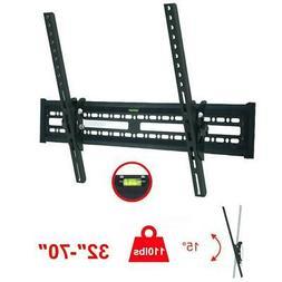 Flat TV Wall Mount Bracket 15° Tilt Swivel For 32 37 42 47