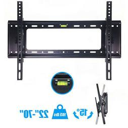 "Flat TV Wall Mount Bracket 15°Tilt Swivel For 27""32""37""42""4"