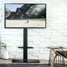Floor Universal TV Stand With Swivel Mount Height Adjustable