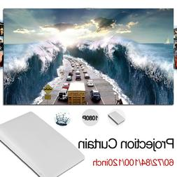 Folded 50 inch 16:9 Projection Projector  Screen Home Movie