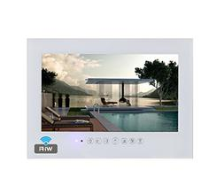 "Soulaca 19"" Frameless Android Smart White Bathroom TV Built-"