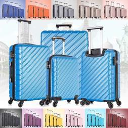 3 & 4  Piece Hardcase Luggage Set Travel Bag ABS Trolley Spi
