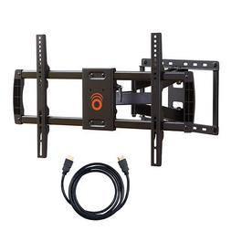"""ECHOGEAR Full Motion TV Wall Mount for 37-70"""" TVs + Dual On-"""