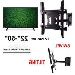 "FULL MOTION TILT LCD LED TV WALL MOUNT BRACKET 42"" 43 44 45"