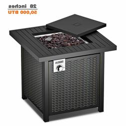 TACKLIFE Gas Fire Table, 28 inch 50,000 BTU Auto-Ignition Ou