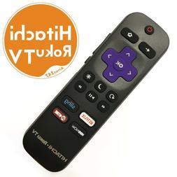 Genuine HITACHI 101018E0001 Roku TV Remote w/ TV Power Butto