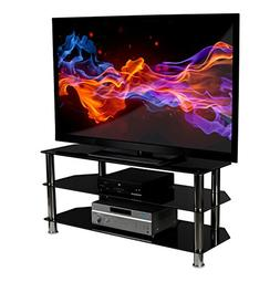 Mount-It!! Glass TV Stand For Flat Screen Televisions Fits 4