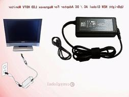 "Global AC Adapter For Magnavox 15"" LCD HDTV Monitor 15mf400t"
