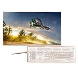 VIOTEK GN32Q Bundle -32 Inch WQHD 144 Hz Curved Computer Mon