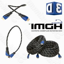 HDMI HIGH SPEED CABLE PREMIUM 1.4 Mesh Wire BLURAY 3D DVD HD