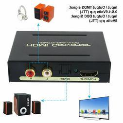 HDMI to HDMI & Optical SPDIF RCA Analog Audio Extractor Conv