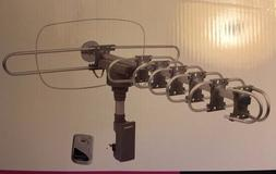 HDTV Amplified Antenna Motorized Rotating 360* w/Remote Outd