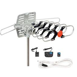 PremWing TV Antenna Outdoor Amplified - Motorized 360 Degree