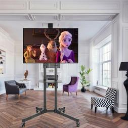 Heavy Mobile TV Cart for 32-70'' LCD LED Plasma Flat w/ Shel