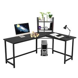 "Leve 66""x 50"" Home Office L-Shaped Desk Corner Computer Desk"