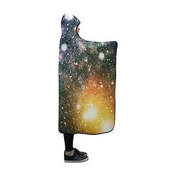 YUMOING Hooded Blanket Deep Space High Definition Star Field