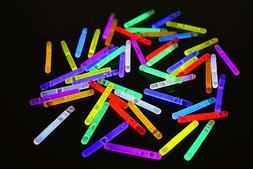 "1.5"" inch Assorted Mini Glow Sticks- 50 pack"
