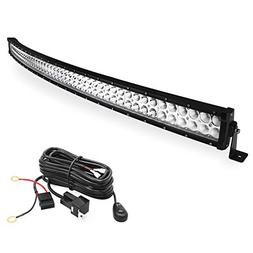 LED Light Bar YITAMOTOR 50 Inch Curved LED Bar Spot Flood Co