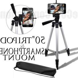 """50"""" Inch Tripod + Smartphone Mount for Samsung Galaxy Note 8"""