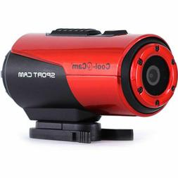 iON Cool-iCam S3000 RED Waterproof Action Camcorder / Camera