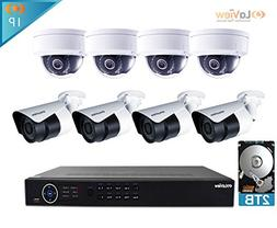 LaView 1080P IP 8 Camera Security System, 8 Channel IP PoE H