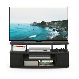 jaya blackwood large entertainment tv stand 15113bkw