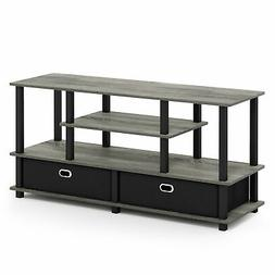 Furinno JAYA Large TV Stand for up to 50-Inch TV with Storag