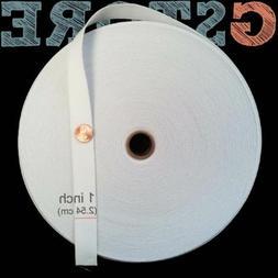 "Knit Elastic Band 1"" - 3"" inch - Black/White Waistband Trim"