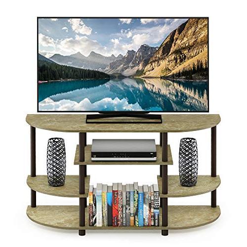 Furinno 15116BRM/BR Jaya Simple Design Marble Brown/Brown