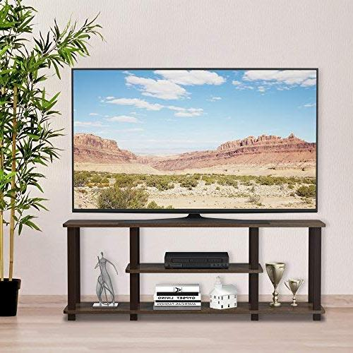 Furinno Entertainment TV Tube, Walnut/Brown
