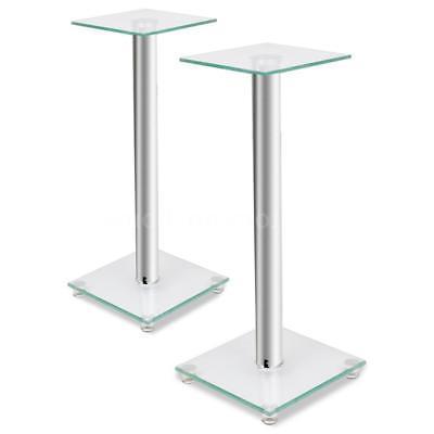 2 pcs Glass Speaker Stand Pillar Monitor Floor Stand Studio
