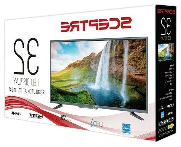 "Sceptre 32"" Class HD  LED TV  HDMI/VGA Inputs"