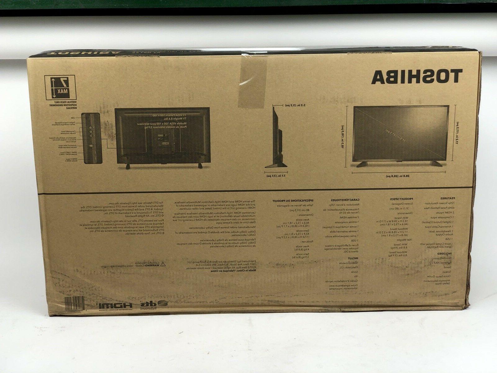 "Toshiba / 32"" Class / LED / / New Open Box 32L220U19 -"